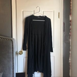 Gap Maternity - Long Black Cross Cardigan